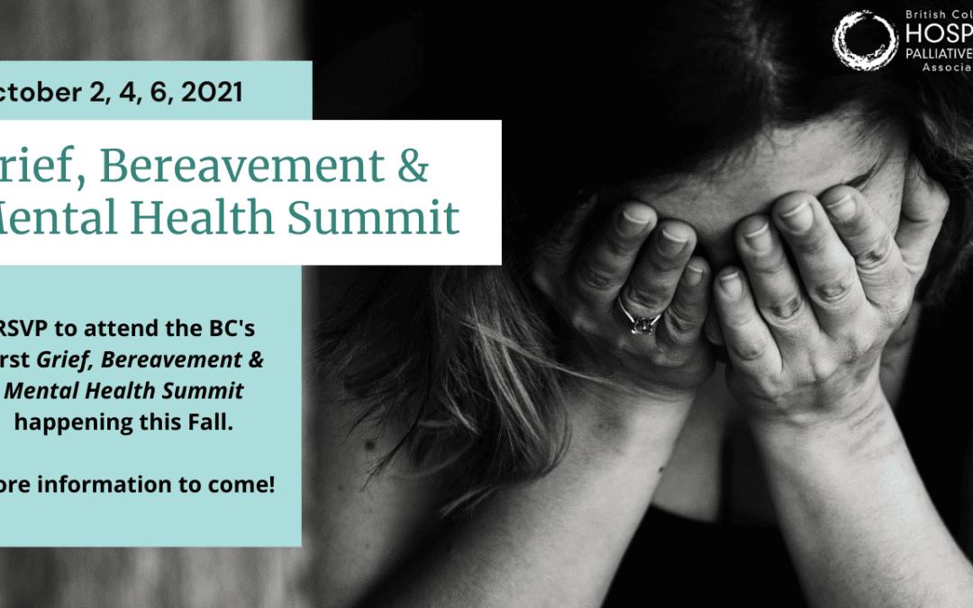 Grief, Bereavement & Mental Health Summit